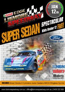 Super Sedans @ Lismore Speedway