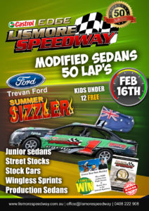 Trevan Ford Modified Sedan Golden Jubilee 50 Lapper @ Lismore Speedway