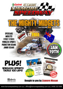 Lismore Nissan  Speedcar QLD Title/Wingless Sprints 100 Lap Grand Prix @ Lismore Speedway